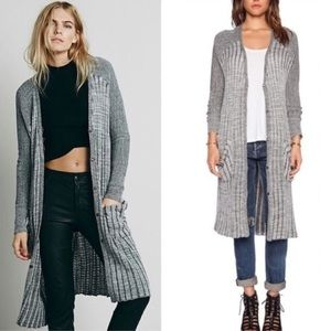 Free people long duster sweater cardigan